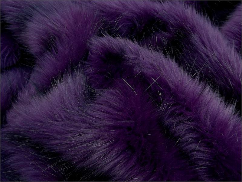 Faux Fur Fabric Aubergine Long Pile 60mm Pile Mohair