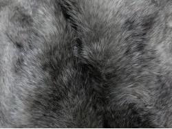 Super Luxury Faux Fur Fabric Material LONG SCARLET /& BLACK FLECK