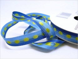 Duo Dotted 9mm  Blue Ribbon Roll