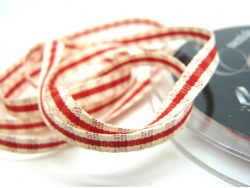 Rustic Gingham 7mm Ribbon Red