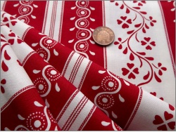 Michael Miller Cotton Red Swirl Floral Stripe 15