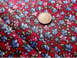 Cotton Red Pink & Blue Floral 47