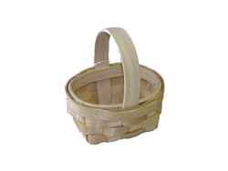 "2"" Miniature Country Woven Basket"