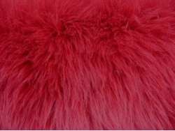 Deep Red Luxury 60mm Shag Pile