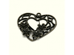 Flower Hearts (bronze colour) TB189