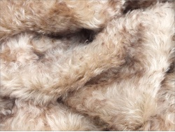 Helmbold  Beige Brown Tipped 25mm  Kid Mohair