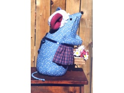 Calico Mouse Doorstop