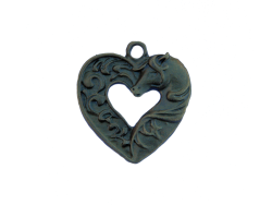 Horse Head Hearts (bronze colour) TB179