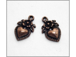 Heart Charm (antique copper colour) TB149