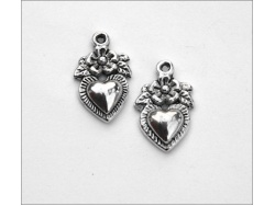 Heart Charm (antique silver colour) TB147