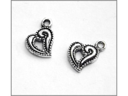 Heart Charm (antique silver colour) TB132
