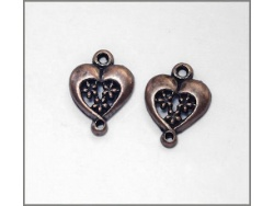 Heart Charm (antique brass colour) TB144