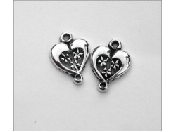 Heart Charm (antique silver colour) TB145