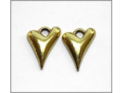 Heart Charm (antique gold colour) TB138