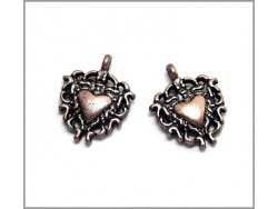 Heart Charm (antique copper colour) TB135