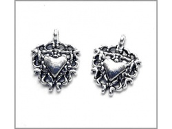 Heart Charm (antique silver colour) TB136