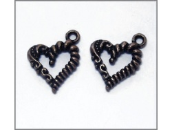 Heart Charm (antique copper colour) TB146