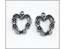 Heart Charm (antique silver colour) TB141