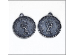 Decorative Coins (antique silver colour) TB121