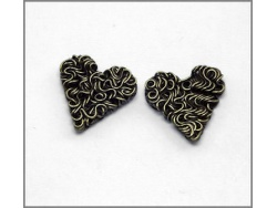 Heart Charm (antique brass colour) TB151
