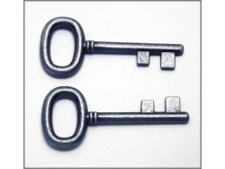Decorative Keys (antique silver colour) TB155