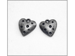 Heart Charm (antique silver colour) TB150