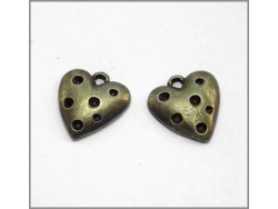 Heart Charm (antique brass colour) TB142