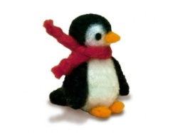 Needle Felting Kit - Penguin