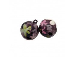 Hand Painted Flower Jingle Bells
