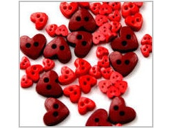 Heart shaped mini craft buttons