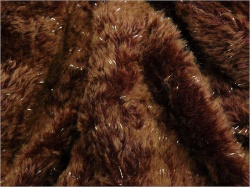 Russet Brown Sparkle 15mm Mohair