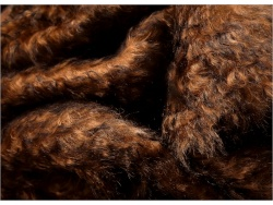 Schulte Chestnut Brown Tip 40mm Mohair - 75