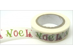 Washi Tape Noel White Red Green  10mm