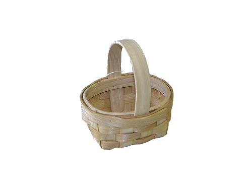 "3.5"" Miniature Country Woven Basket"