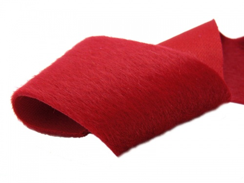 Luxurious Mini Long Pile Scarlet Red 3-5mm pile height