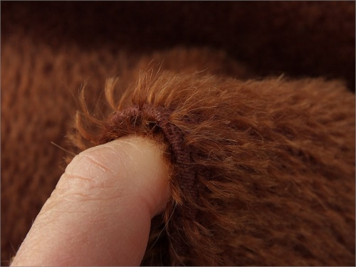 Mohair Bear Making Supplies Limited Tom Russet Brown 9mm